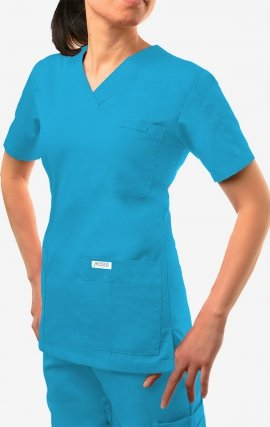 520T - MOBB 6 Pocket Scrub Top - Aqua