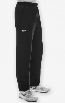 P4011 - MOBB Unisex Straight Leg Multi Pocket Scrub Pant - Black