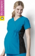 6445 WonderWink Maternity Stretch Mock Wrap Scrub Top - Black