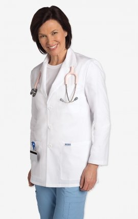 L203 MOBB Unisex Half Length Lab Coat - Women's View