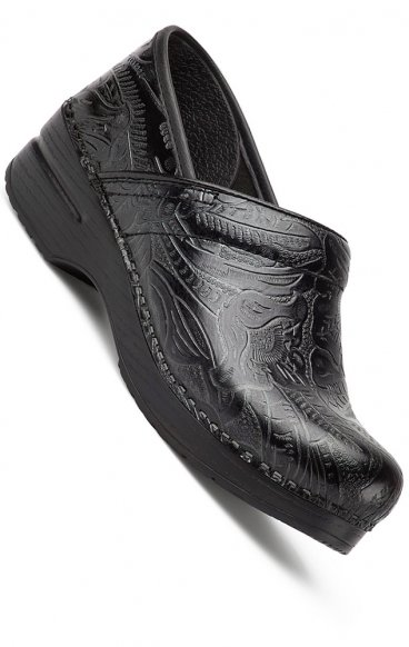 Black Tooled Leather - The Professional by Dansko (Women's)