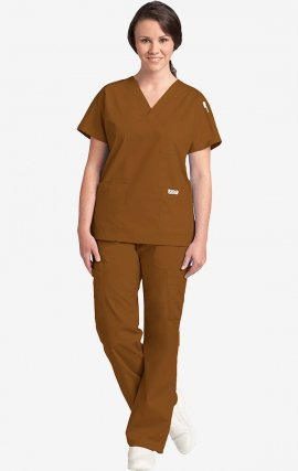 310-307 Nutmeg MOBB Scrub Set Top & Pant - Nutmeg (NM)