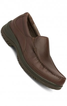 Wayne Slip-Ons Mocha Full Grain Leather - Dansko Men's