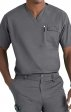 6618 WonderFlex Honor Men's Utility Media Tops - Black