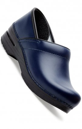 The Professional by Dansko (Women's) - Dark Blue Box Leather