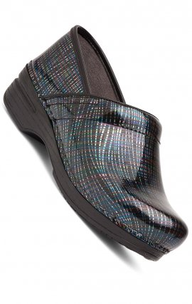 Women's Pro XP Dansko Clogs - Multi Crisscross Patent Leather