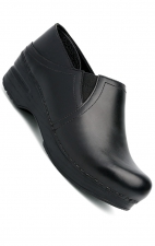 Women's Pepper Clogs in Black Cabrio Leather Leather by Dansko