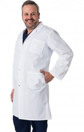 4600 Greentown Classix Unisex Snap Front Full Length Lab Coat 100% Cotton 42""