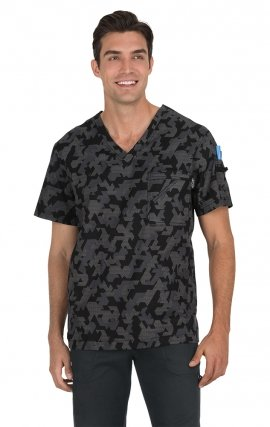 655PR Coby Top - Techno Camo Black