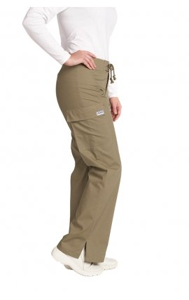 *FINAL SALE 316P OLIVE Low Rise Lace Up Flare Pant by MOBB