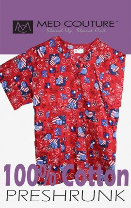 C7 Red Love The USA 100% Cotton
