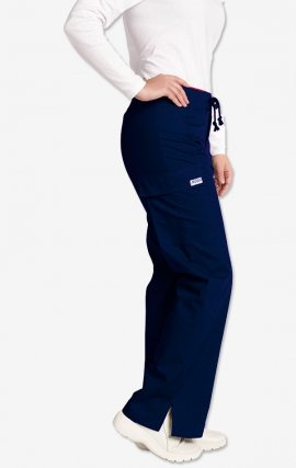 *FINAL SALE 316P-Tall Navy Low Rise Lace Up Flare Pant by MOBB