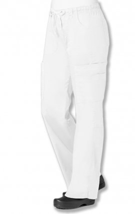 *FINAL SALE 9602T TALL White Maevn Blossom - Multi Pocket Utility Cargo Pant