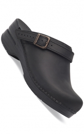 Dansko Women's Ingrid Clogs - Ingrid Black Oiled Leather