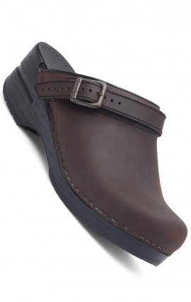 Dansko Women's Ingrid Clogs - Antique Brown Oiled Leather