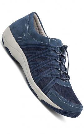 Blue Suede Leather Women's Honor Sneakers by Dansko