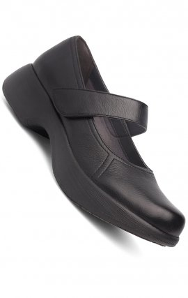 Dansko Willa Clogs in Black Milled Nappa