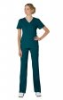 316 Koi Lite™ Scrubs Philosophy Mock Wrap Side Zipper Top