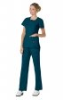 317 Koi Lite™ Scrubs Serenity Double Zipper Top