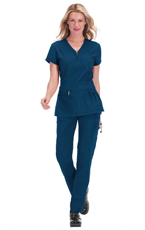917016b73fe 204 Koi STRETCH Scrubs Mackenzie Top - Cheap-Scrubs.com
