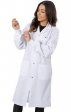 4533 Greentown Classix Unisex Snap Front Full Length Lab Coat With Cuffs