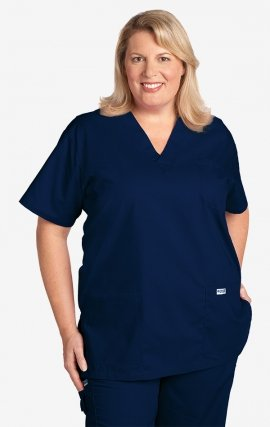 310T 6XL MOBB Classic Unisex 3 Pocket Scrub Top (Women's View)