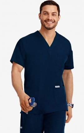 310T 6XL MOBB Classic Unisex 3 Pocket Scrub Top (Men's View)