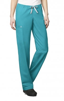 500 WonderWORK Unisex Drawstring Cargo Scrub Pant (Women's View) - Inseam: Regular 31""