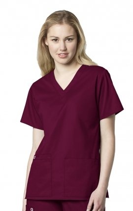 101 Women's WonderWORK Classic Fit and True-Plus Fit V-neck Scrub Top
