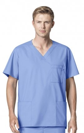 103 WonderWORK Men's V-Neck Scrub Top