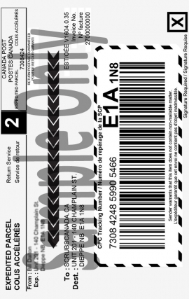 Flat Rate Shipping Label $6.50