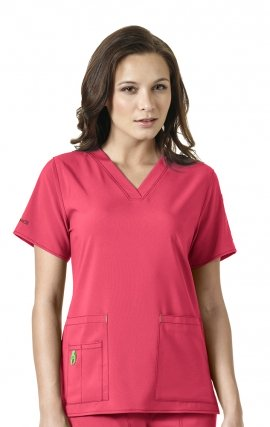 C12110 Carhartt CROSS-FLEX Scrubs - V-Neck Tech Top