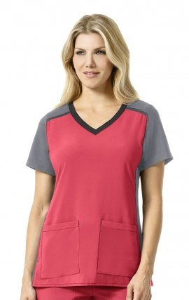 C12410 Carhartt CROSS-FLEX Color Block Scrub Top