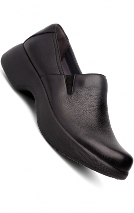 Dansko Winona Clogs in Black Milled Nappa