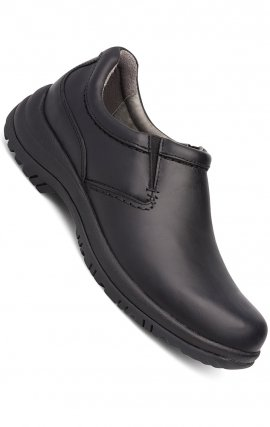 Men's Wynn Slip-Ons in Black Smooth Leather - Dansko