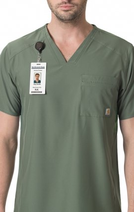 C15106 Carhartt Liberty Men's Slim Fit V-Neck Scrub Top