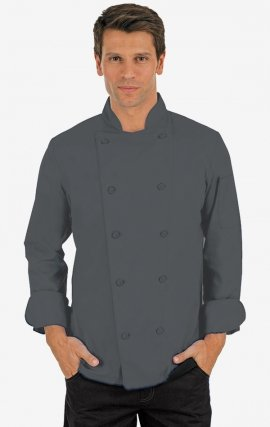 CC250 Charcoal Classic Chef Coat - Men's View