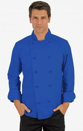 CC250 Royal Blue Classic Chef Coat - Men's View