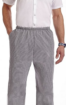 *FINAL SALE 303P XS MOBB Woven Chef Pant Hounds Tooth