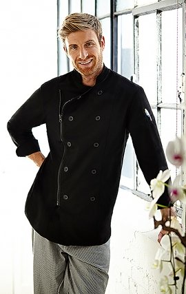 CC290 MOBB Zipper Closure Chef Coat - Men's View