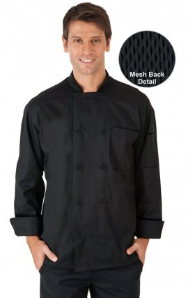 CC650 MOBB Unisex Long Sleeve Chef Coat With Moisture Wicking Mesh Back