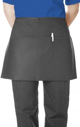 AP381 MOBB 3 Pocket Black Waist Apron Premium Twill 7.5oz Stain & Wrinkle Resistance