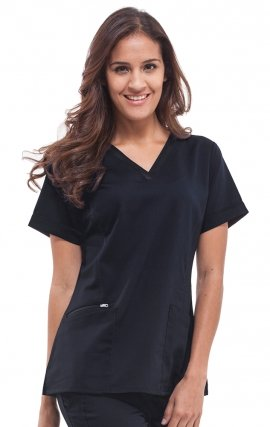 2278 Healing Hands Purple Label Jasmin Fashion V-neck Scrub Top