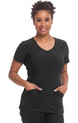 2316 Healing Hands Performance Sport Courtney Mock Wrap Scrub Top