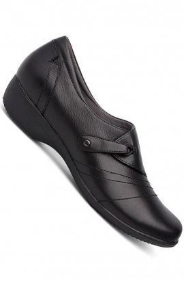 Franny Black Milled Nappa Loafer - Dansko