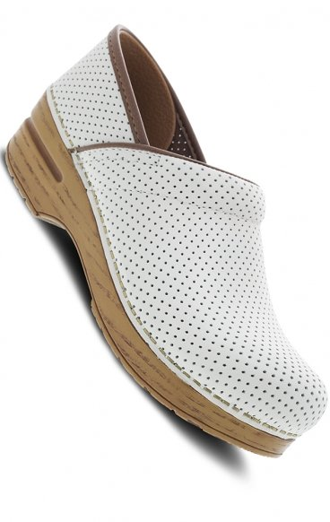 *FINAL SALE Perfed Pro Ivory Leather Clog by Dansko Professional