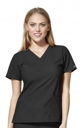 6255 W123 by WonderWink - Women's Basic V-neck Scrub Tops