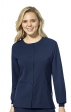 8155 W123 by WonderWink - Women's Crew Neck Warm Up Jacket