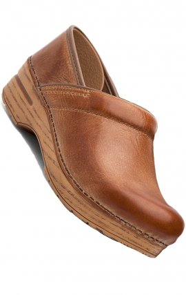 Honey Distressed Leather Clog by Dansko Professional