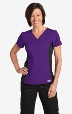 Flexi V-Neck Scrub Top by MOBB - Eggplant (EG)